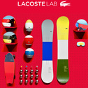 「Lacoste L!VE」のスケートデッキが愛らしい。