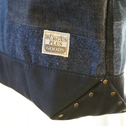 BURGUS PLUS X HERITAGE LEATHER CO. - PATCH WORK DENIM TOTE BAG -