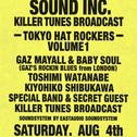 『GUILTY PARTIES SOUND INC. KILLER TUNES BROADCAST -TOKYO HAT ROCKERS- VOLUME 1』