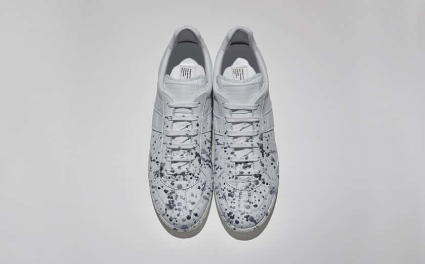 replica silver painted sneaker _ limited