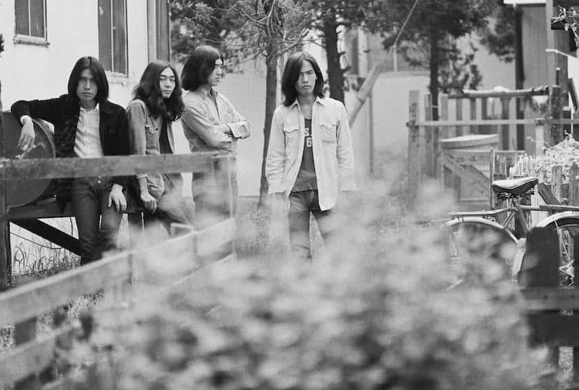 左から、松本隆、細野晴臣、大瀧詠一、鈴木茂。 From left: Takashi Matsumoto, Haruomi Hosono, Eiichi Ohtaki and Shigeru Suzuki.