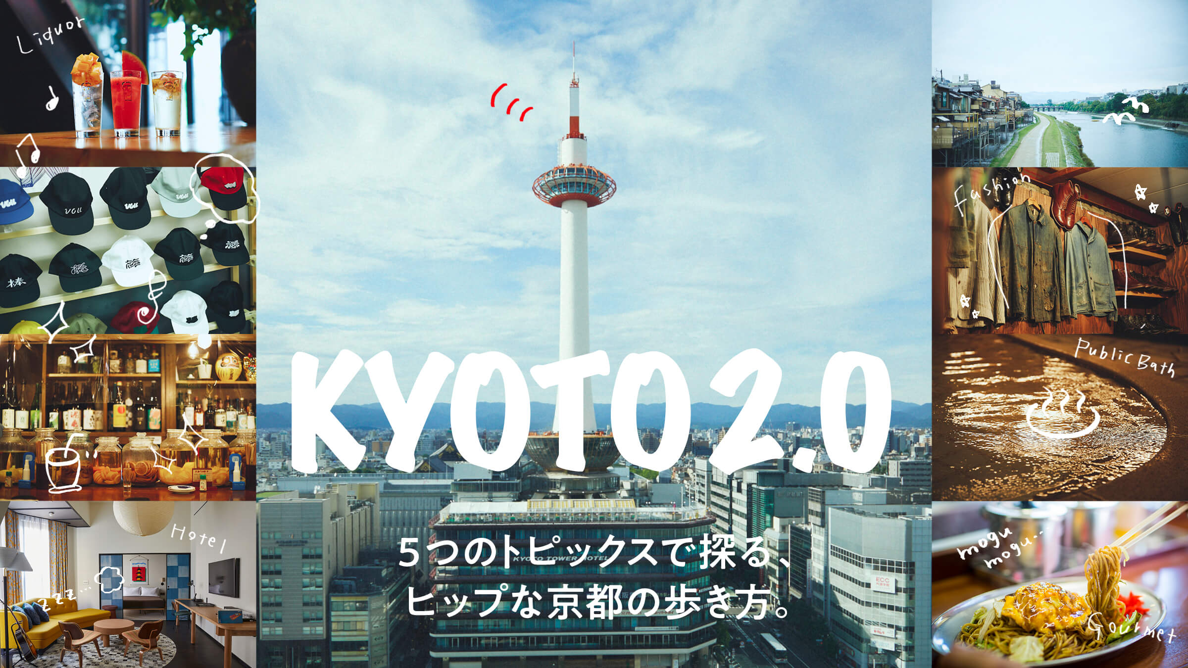 5つのトピックスで探る、ヒップな京都の歩き方。